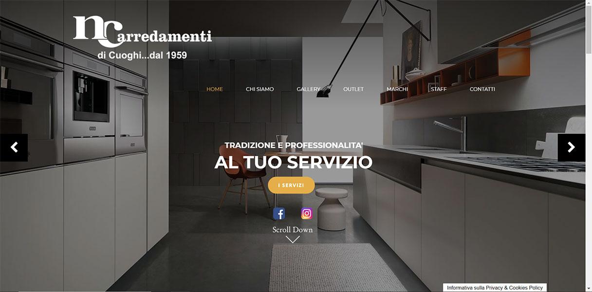 Sito web nc arredamenti modena ferrari gabriele web for Ferrari arredamenti battuello